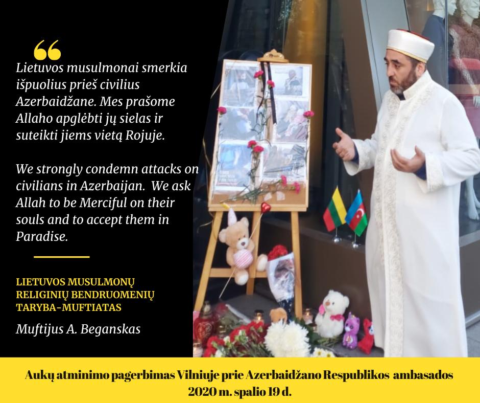 Azerbaidžano aukų pagerbimas Vilniuje