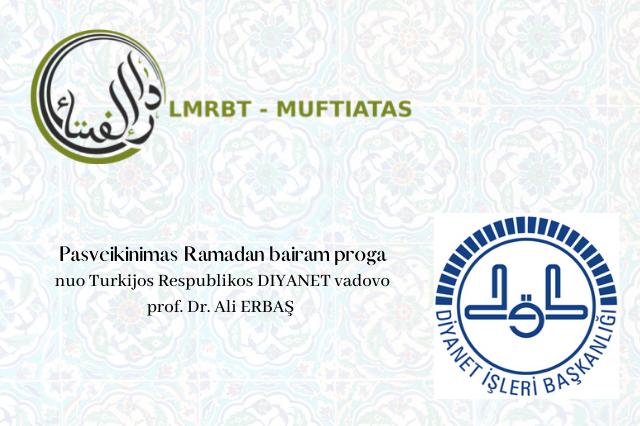 DIYANET sveikinimai Ramadan bairam proga