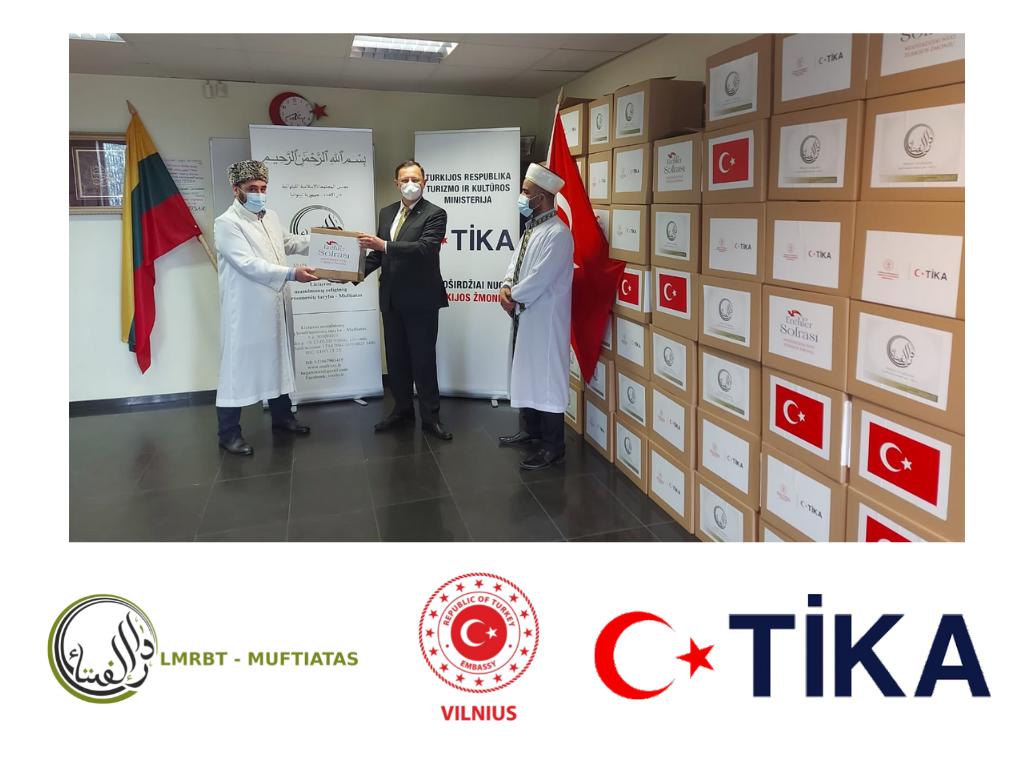 Ramadano sadakos projektas 2021 su Turkijos Respublikos ambasada